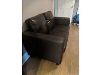 FREE COUCH!! brown leather effect 2 seater, free, collection only