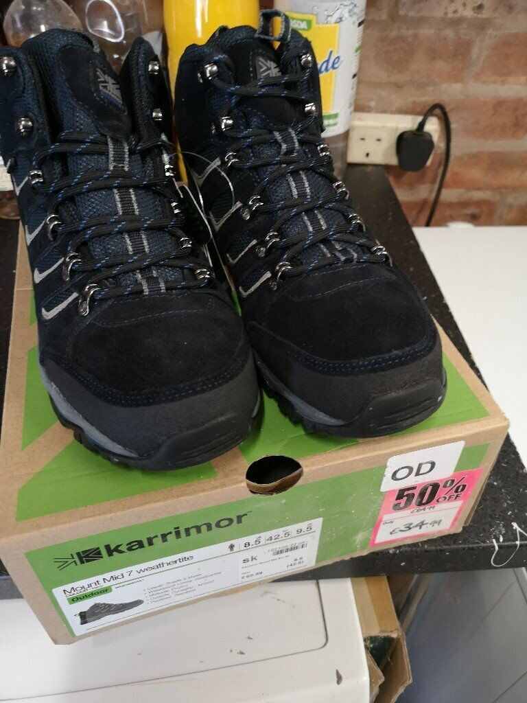 5389688c6c0 Karrimor Mount Mid Mens Walking Boots size 8.5