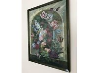 Framed Floral Tapestry Wall Picture