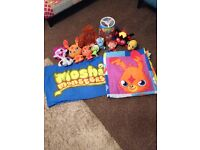 Moshi monster single bedding light fitting and cuddly toys