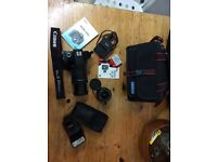 Canon EOS 550D with original lense + Canon Speedlite 420 + Canon 18-135mm lense + other accessories