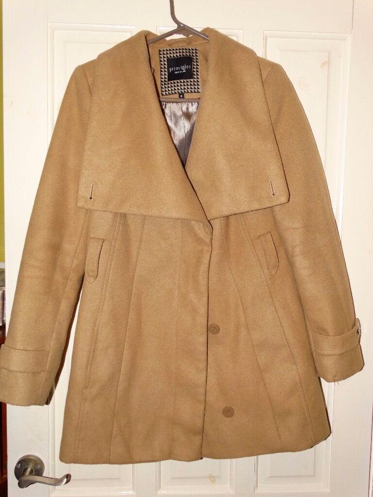 Principles by Ben de Lisi ladies' 3/4 length coat - beige UK size 10