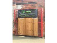 £23.50 6ft x 5ft Treated Fence Panels, New Vertilap Brown Panels