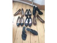 Size 6 shoes (selection of 7 pairs)