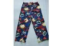 PJ SUPERMAN TROUSERS 4-5yrs BRAND NEW