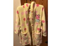 Peppa Pig soft fleecy dressing gown aged 4-5 in excellent condition