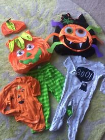 Halloween outfit bundle 6-9mths/9-12mths/1-2yrs (all fit my 7mth old last Oct)