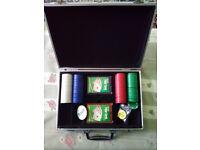 Poker Set, Cards, Chips, Aluminium Case