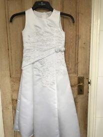 Girls' Ivory bead embellished RJR John Rocha communion/bridesmaid dress