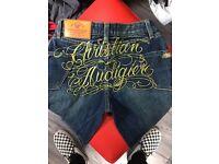 Brand New Christian Audiger Jeans