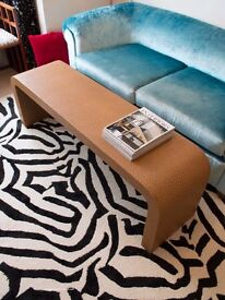 ART DECO COFFEE TABLE IN FAUX OSTRICH LEATHER