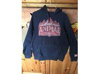 Boys animal hoodie large