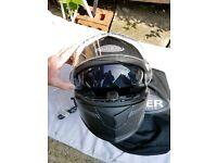 viper helmet with built in sun visor and speakers