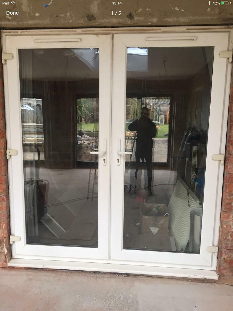 Upvc Patio French Doors White Double Glazed With Vents