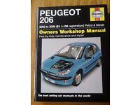 Haynes Peugeot 206 Repair manual (51 - 06 Reg)