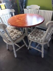 Round table & 4 chairs...painted with frenchic paint