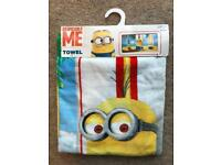 BRAND NEW DESPICABLE ME MINION TOWEL 60X120CM
