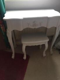 Toulouse White Dressing Table Set and side tables