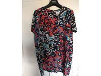 Mamas & Papas maternity tunic top dress, multicoloured with zip (UK 12)