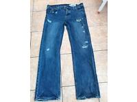 Hollister jeans male straight cut ripped w34 L34