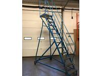 Large Warehouse Mobile Stairs Heavy Duty - 13 Tread