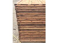 🎆Brown Wayneylap Fence Panels > Excellent Quality < Pressure Treated > New