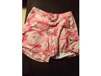 Pink print shorts size 8