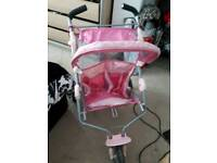 """""""BABY BORN"""" PINK DOUBLE DOLLS BUGGY IN GOOD CONDITION"""
