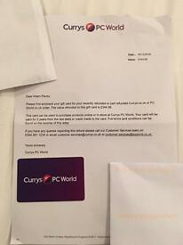 £345 Currys Voucher for £320