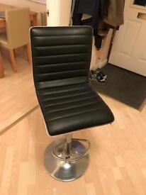 6 Leather effect swivel stools
