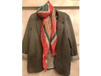 Grey Mango Blazer with pockets (+ scarf for free)