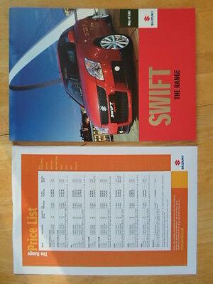 SUZUKI SWIFT RANGE orig 2007 UK Mkt Prestige Sales Brochure