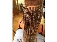 Box braids/ Faux locs/Cornrow/ virgin Weave hair extensions /AFRO CARIBBEAN EUROPEAN hair braiding /