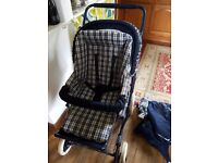 Vintage Mothercare out and about Earth tour stroller