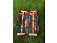 Adult Croquet Set Upgraded Full Size Garden Games Longworth 4 Player in a Bag