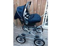 Silver cross pram,car seat with sleepover accessories