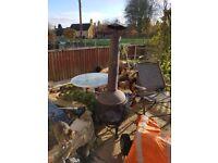 Brass outdoor garden burner