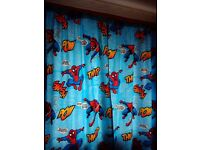 Curtains and lightshade spiderman