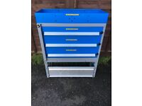 Van Racking / Shelving / Drawers - 3 Drawer Unit - V Good Condition - Tool Station - Security