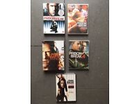 DVD'S The Entire Prison Break Series 1-5 Brand New Unopened Still In Cellophane Wrapping.