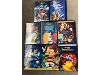 8x Classic Disney DVDs