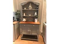 Small solid oak painted dresser