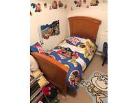 Toddler bed and bedding ( not paw patrol) see next pic