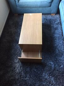 Coffee Table with shelf and side compartment