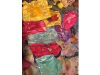 Bundle of Disney princess dresses and shoes