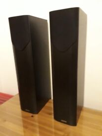 Mission M33 floor standing speakers- black