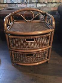 Bamboo and wicker side table