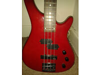 Stagg Bass (red) no case - RUTHERGLEN, MAIN ST.
