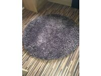New Purple deep pile circular rug by Next