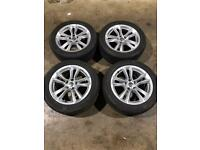 "Set of 17"" genuine Audi alloy wheels and tyres"